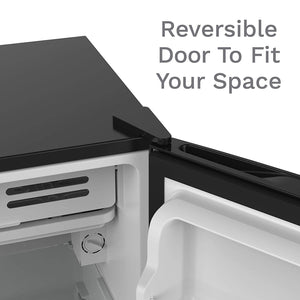 with reversible door