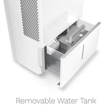 Load image into Gallery viewer, white home 50 pint dehumidifier removable water tank