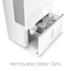 white home 50 pint dehumidifier removable water tank
