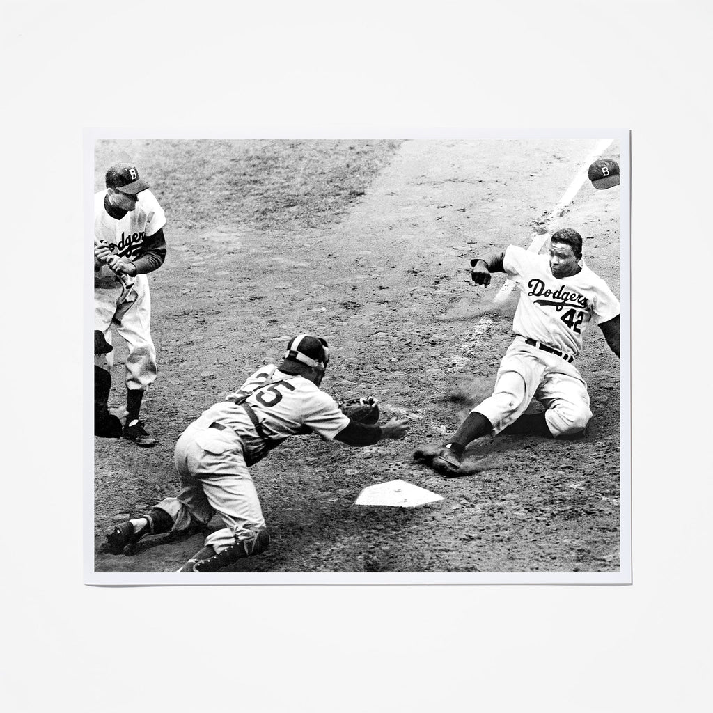 Jackie Robinson Steals Home
