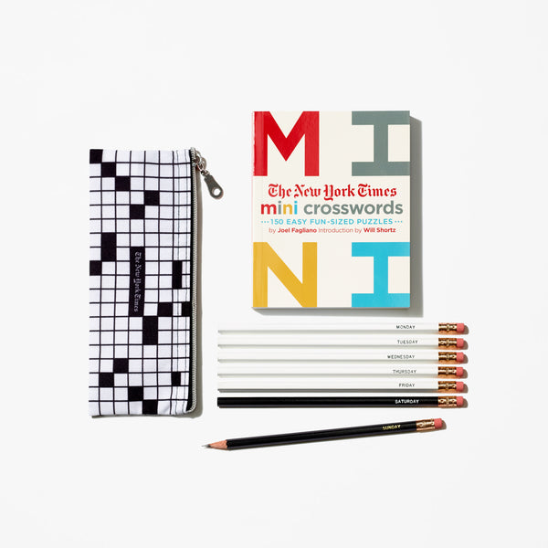 Mini Crosswords With Pencil Set