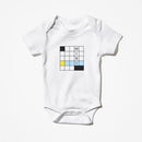 Mini Crossword Baby One Piece