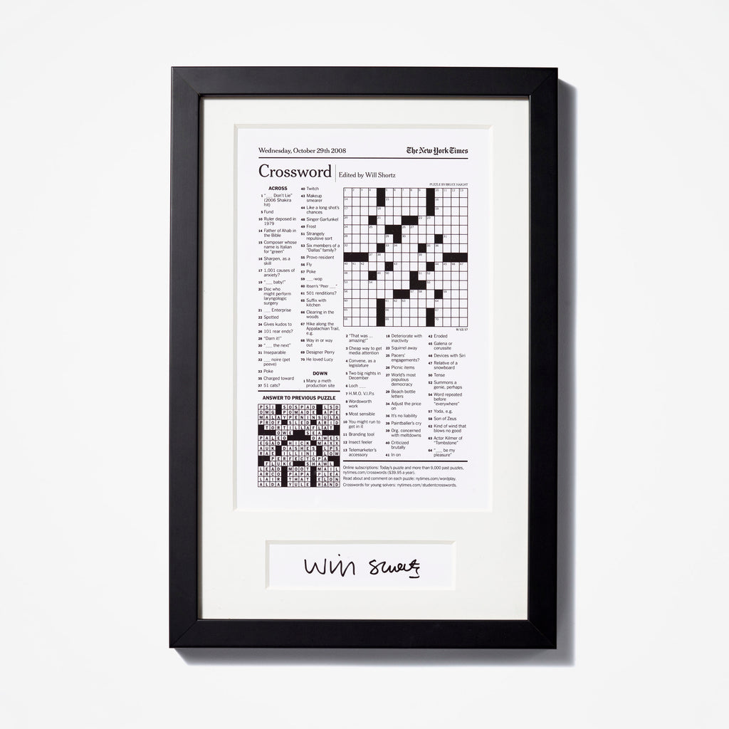 Crossword Puzzle Reprint NYTStore