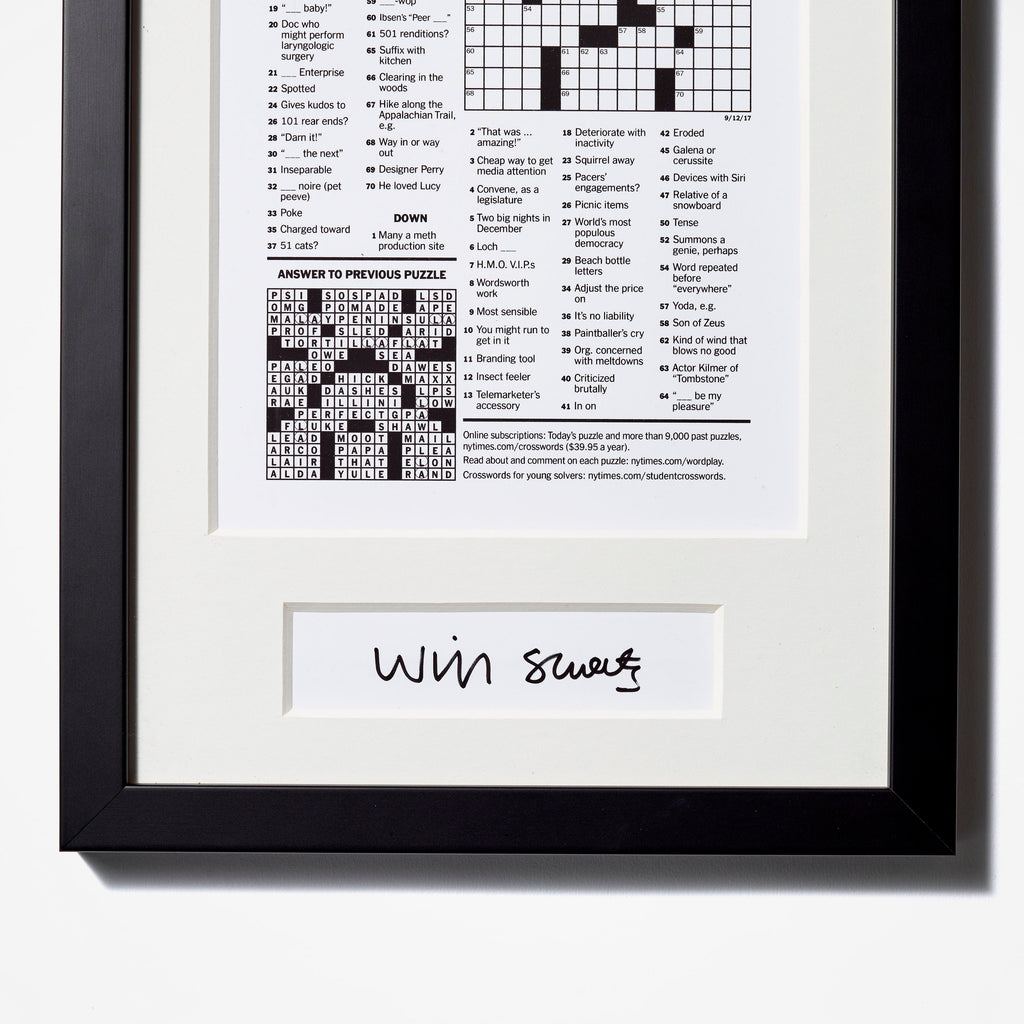 Crossword Puzzle Reprint