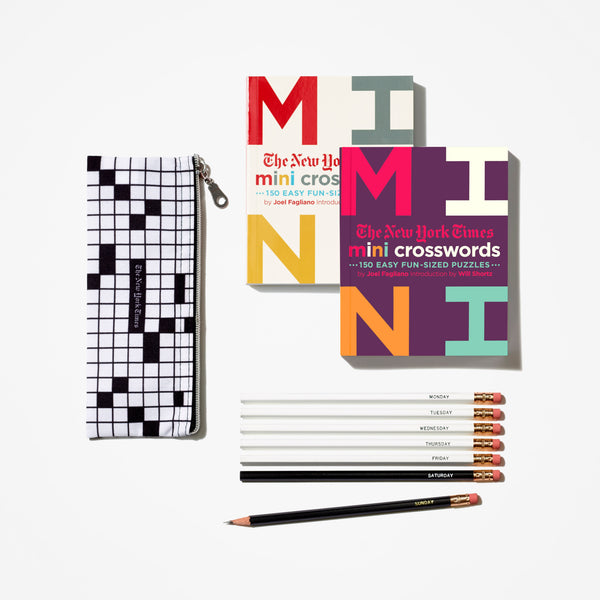Mini Crossword Books With Pencil Set