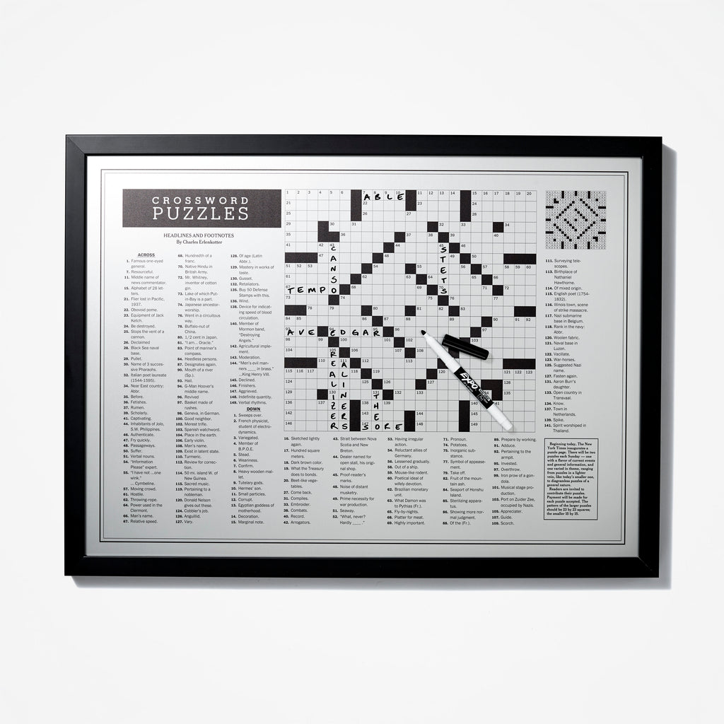 photo relating to New York Times Sunday Crossword Printable named Initially Crossword Puzzle