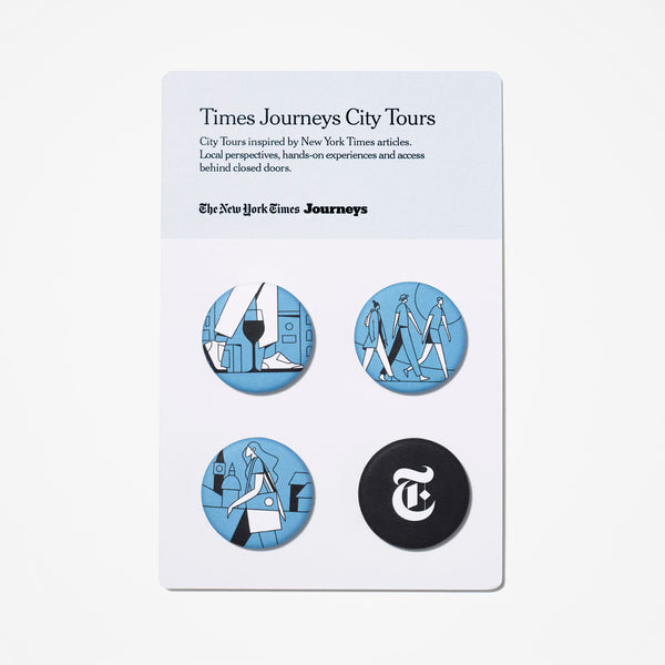 Times Journeys Buttons (Set of 4)