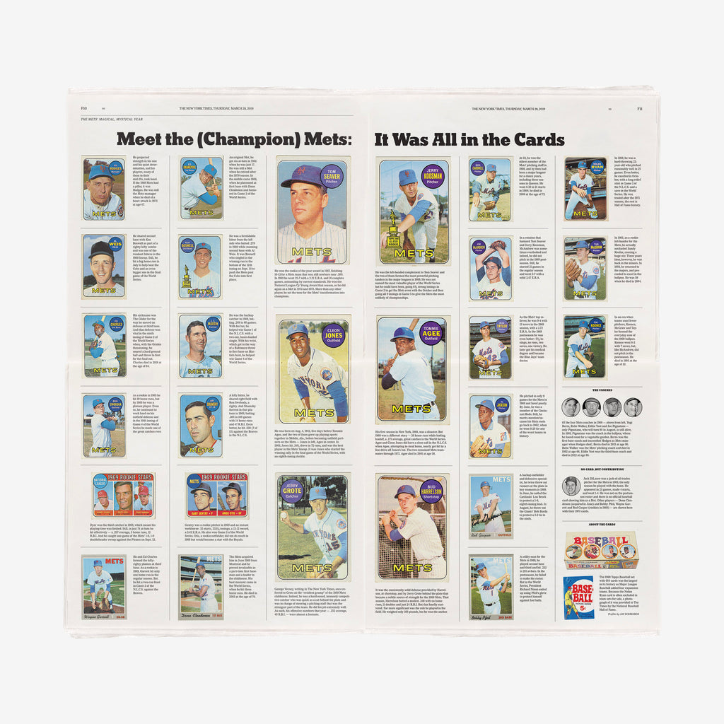 New York Mets 1969 New York Times Section – NYTStore