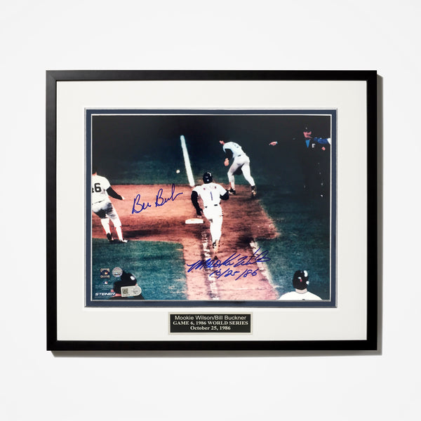 Bill Buckner, Mookie Wilson Signed Photo