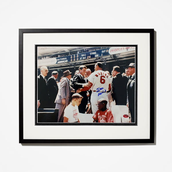 Stan Musial Signed Photo With Kennedy