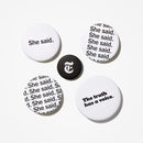 She Said Buttons (Set of 5)