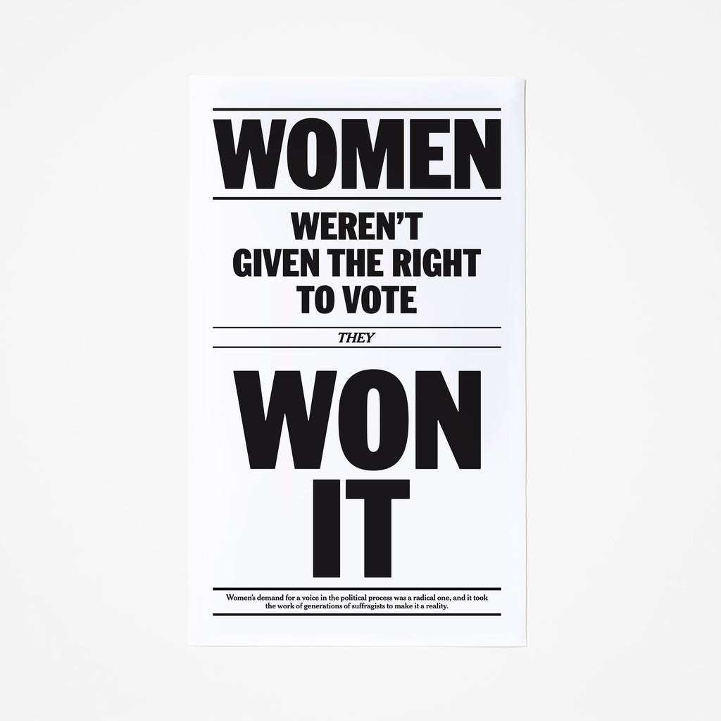 Women's Right to Vote Poster