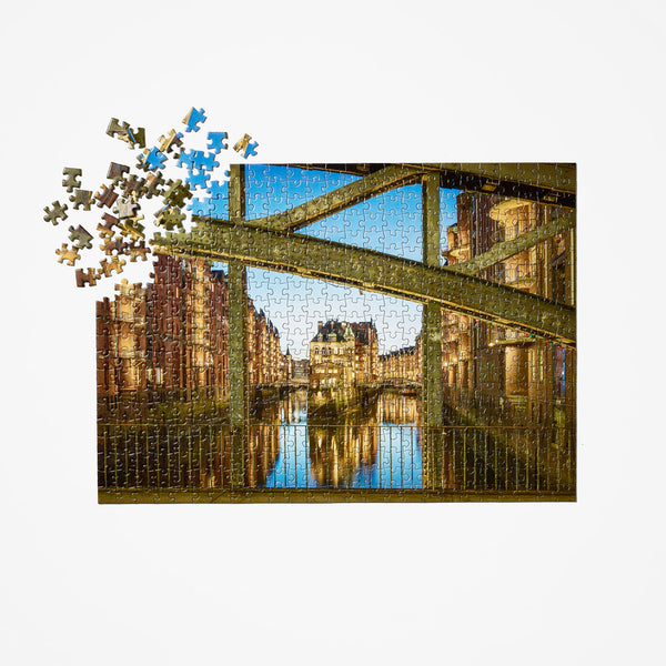 Hamburg Canal 52 Places Puzzle