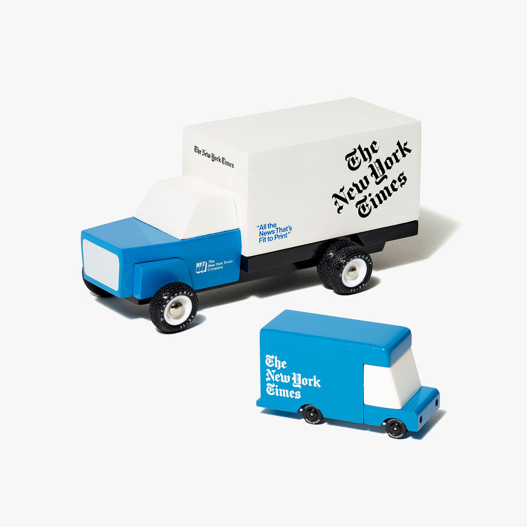 Wooden Delivery Truck and Van Set