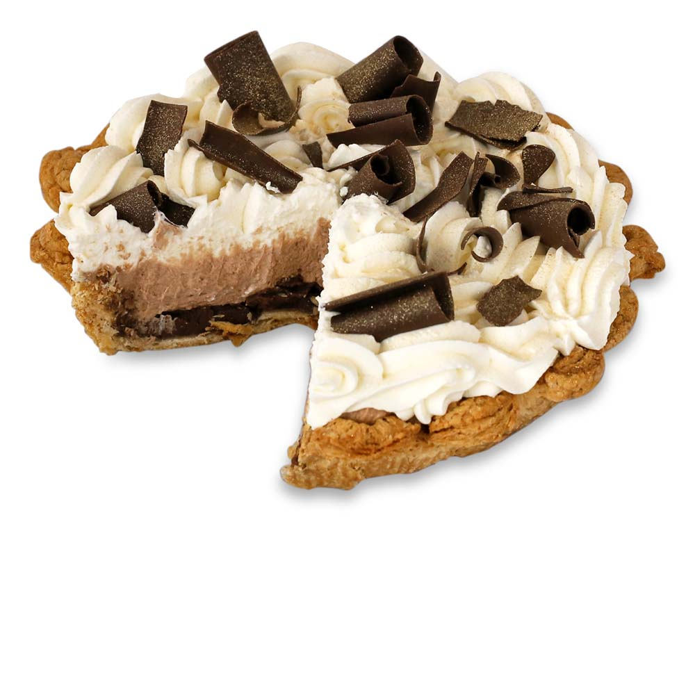 Sliced Triple Chocolate Cream Pie from The Pie Hole