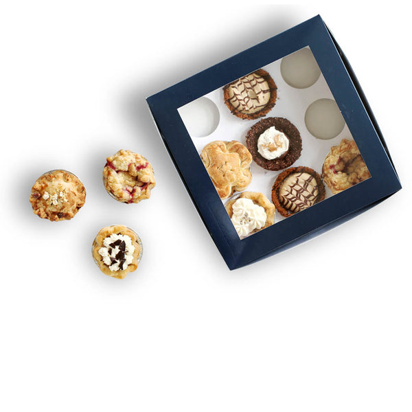 Top View Box of Assorted Mini Pies from The Pie Hole