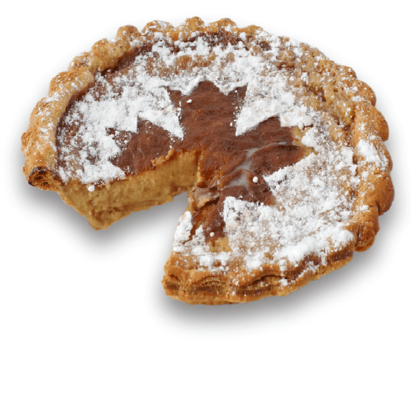 Sliced Canadian Maple Custard Pie from The Pie Hole