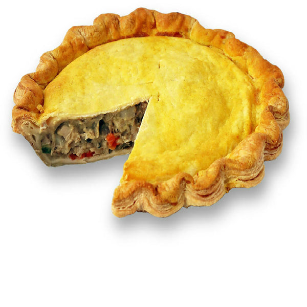 Sliced Caribbean Chicken Pie from The Pie Hole