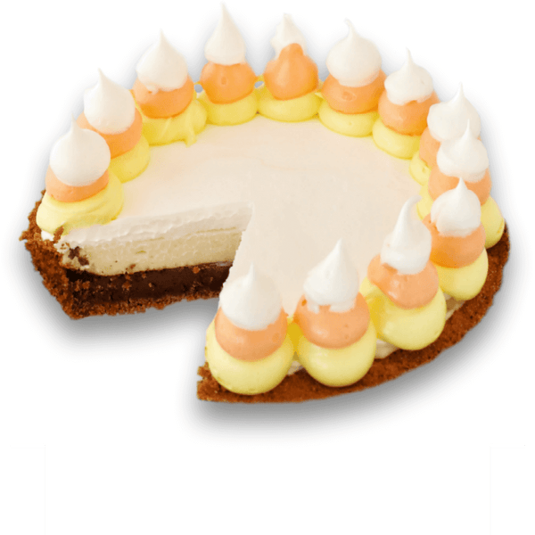 Halloween Candy Corn S'mores Pie
