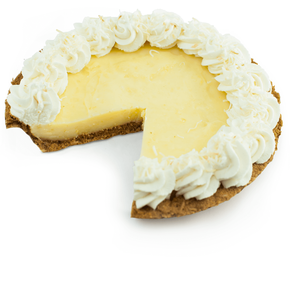 Sliced Lemon Coconut Pie at The Pie Hole