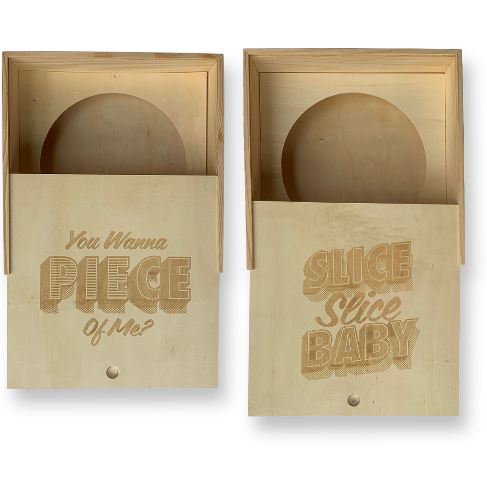 Engraved Wooden Pie Box