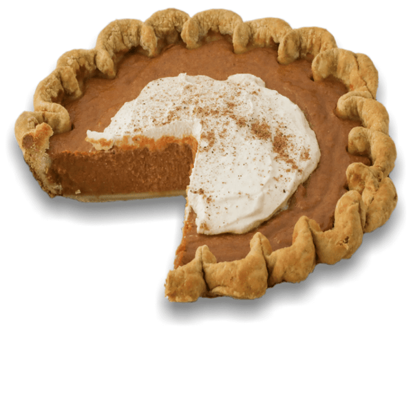 Sliced Vegan Pumpkin Pie from The Pie Hole