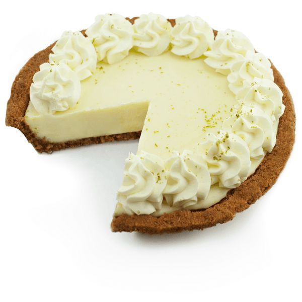 Sliced Gluten Free Key Lime Pie from The Pie Hole