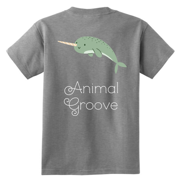 Narwhal Animal Groove Kids Shirt