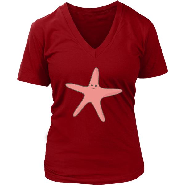 Starfish Womens V-Neck Shirt