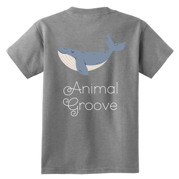 Whale Animal Groove Kids Shirt