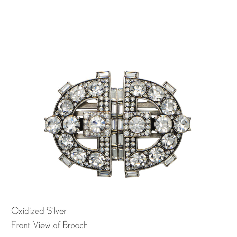 Clara Double Clip Brooch - Jubilee Jones