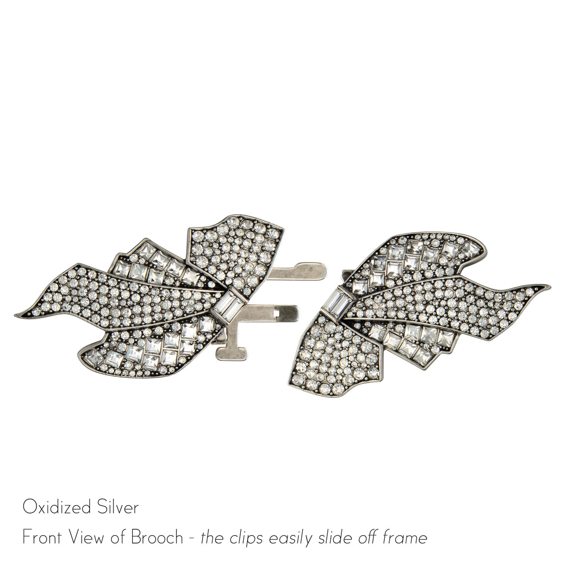 Olivia Double Clip Brooch - Jubilee Jones