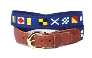 Men's popular nautical code custom canvas belt, is the perfect gift for the guy who loves the nautical and color