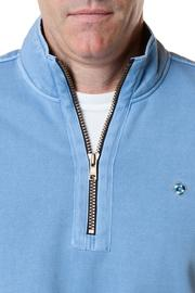 Men's Quarter Zip Pull Over Sweatshirt Lt Blue by Castaway Clothing