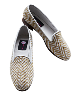 On or off the office scene this sweet needlepoint loafer works well
