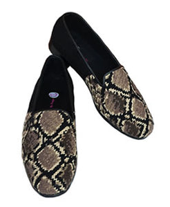 Misses snake skin Needlepoint loafer is a wardrobe staple.