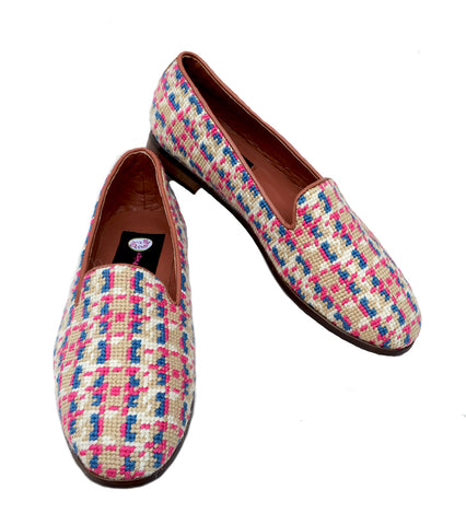 Misses Point Loafer Tweed Pattern on Ivory