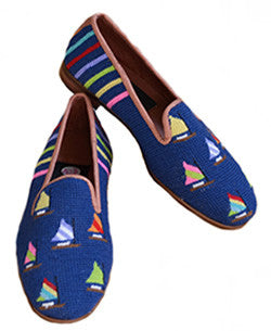 Misses Handstitched Nantucket Fleet of Sails Loafer