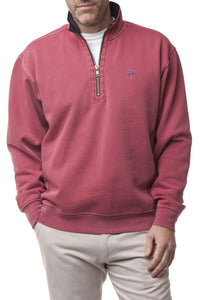 Men's  Quarter Zip Pullover Sweatshirt By Castaway Clothing| Designs by Lillie