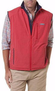 Men's Tidal Wind Vest by Castaway Clothing Hurricane Red