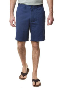 Men's Plain Front Casual Twill  Short by Castaway Clothing Atlantic