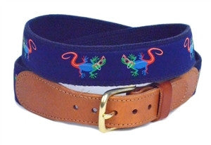 cool colorful gecko ribbon belt for men