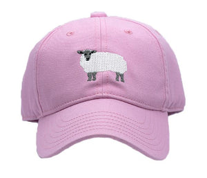 Kids Needlepoint Baseball Caps   by Harding Lane -Lamb Chop
