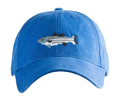 Harding Lane Needlepoint Baseball Cap Striped Bass