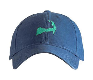 Needlepoint Baseball Cap by Harding Lane  Map of Cap Cod on Navy