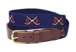 Mens Lacrosses ribbon belt for the proud goalie that defends his team