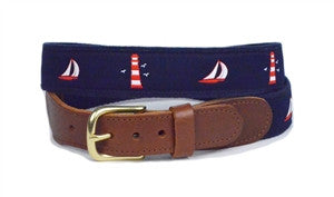 Men's custom canvas sailing ribbon belt created by Lillie. Get yours right here. A popular Lillie exclusive