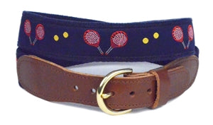 Men's Exclusive Paddle ball Custom Canvas Ribbon Belt Designs by Lillie