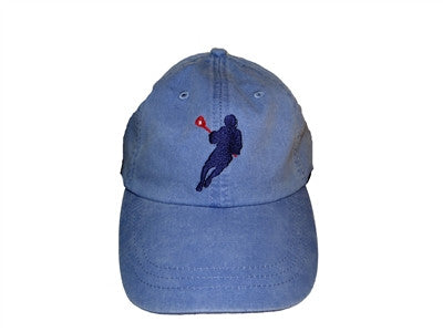 Lillie Designs Embroidered Baseball Hat - Lacrosse Player