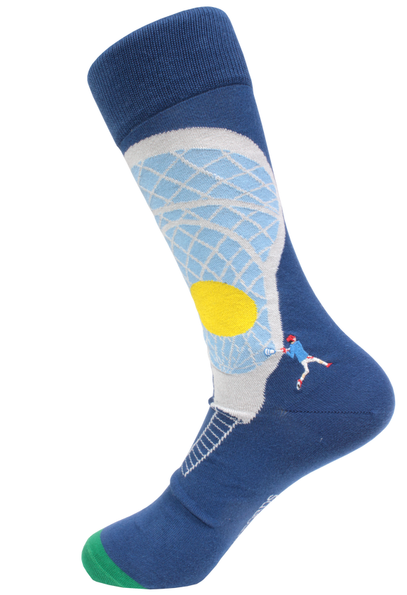 Sockfords Premium Pima Cotton Embroidered Socks Lax on and Off